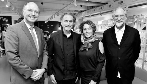 Gero Furchheim (Vorstand CAIRO AG) Barbara Friedrich (Journalistin), Werner Aisslinger (Designer) und Gerhard Wolf (Vorstand Cairo AG) @ Hannes Magerstaedt