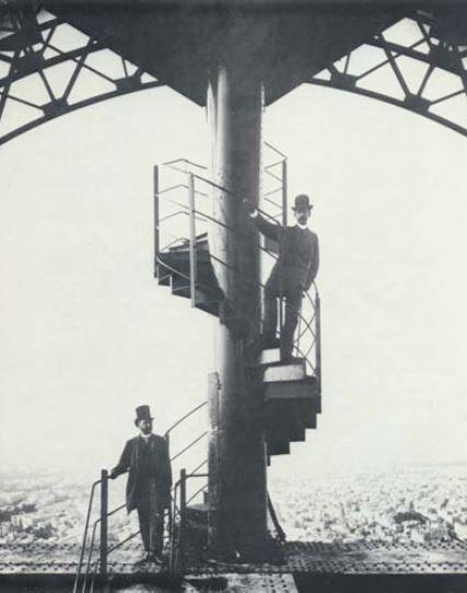 Gustave Eiffel auf dem Eiffelturm ©DR Kopie