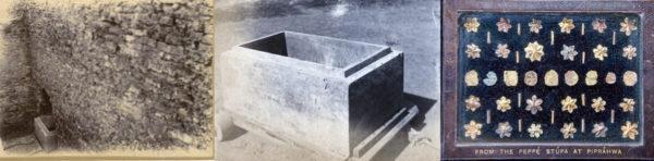 Der Stupa von Piprahwa und die Asche des Buddhas - Stone Coffer In Situ & Schachteln für Peppé, in London angefertigt
