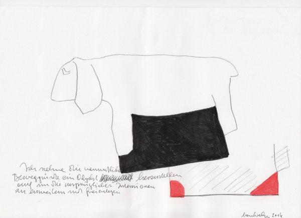 Lois Weinberger, Versuch einer Ordnung, 2016 Tusche auf Papier, 29,5 x 21 cm © Studio Weinberger