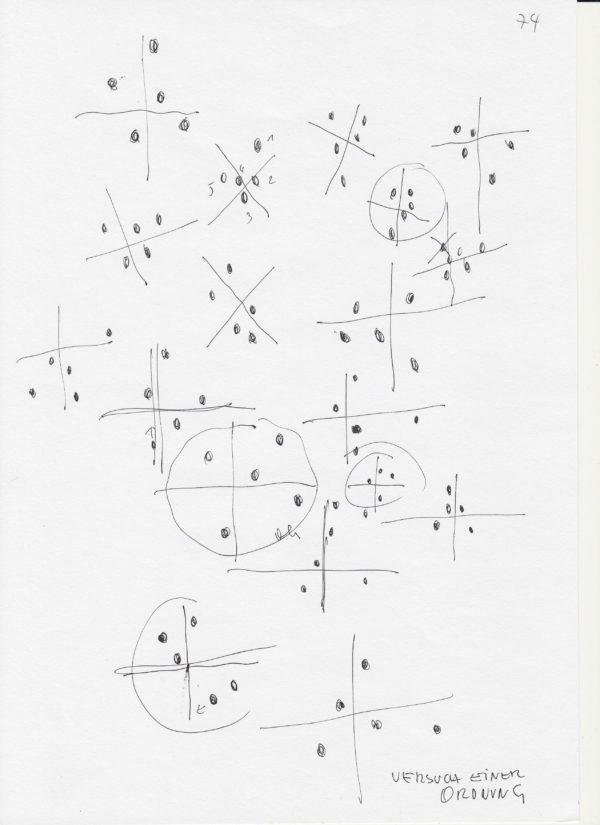 Lois Weinberger, Tier, 2016 Bleistift, Farbstift, Tusche auf Papier, 21 x 29,5 cm © Studio Weinberger