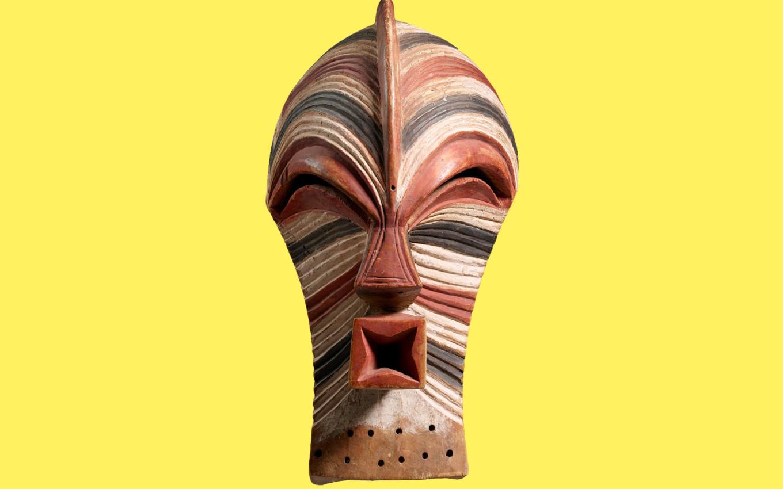 Maske, Kongo, kifwebe, Künstler der Songye-Region, um 1900, Sammlung Hans Himmelheber, Museum Rietberg