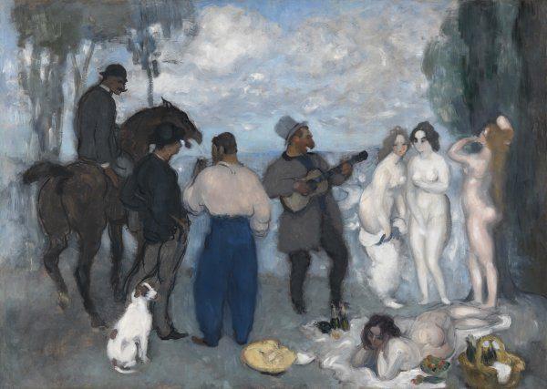 Kunkel Fine Art Louis Anquetin Etrepagny: 1861 - 1932 Paris Le dejeuner a Bourgueil 1893 Öl auf Leinwand 90 x 125,5 cm
