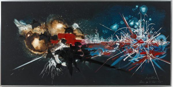 Georges Mathieu: Petite Libération de Paris, 1987 © Artcurial