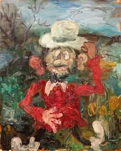 Matias Sanchez: Bonjour Monsieur Gauguin, 2013, Öl auf Leinwand, 81x65cm ©Galerie Zink