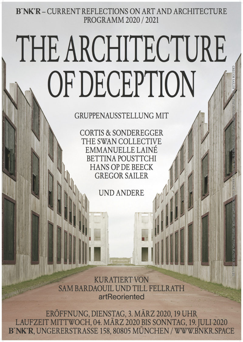 The Architecture of Deception - Ausstellungsplakat © BNKR