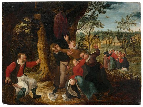 Pays Bas vers 1600 suiveur de Marten van Cleve La dispute pour le pantalon © Artcurial